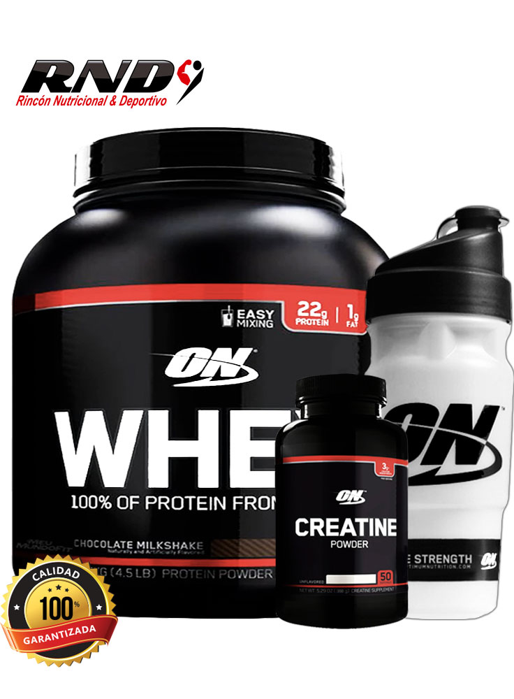 WHEY 100% (65 SERV) + CREATINE (100 SERV) + SHAKER ON