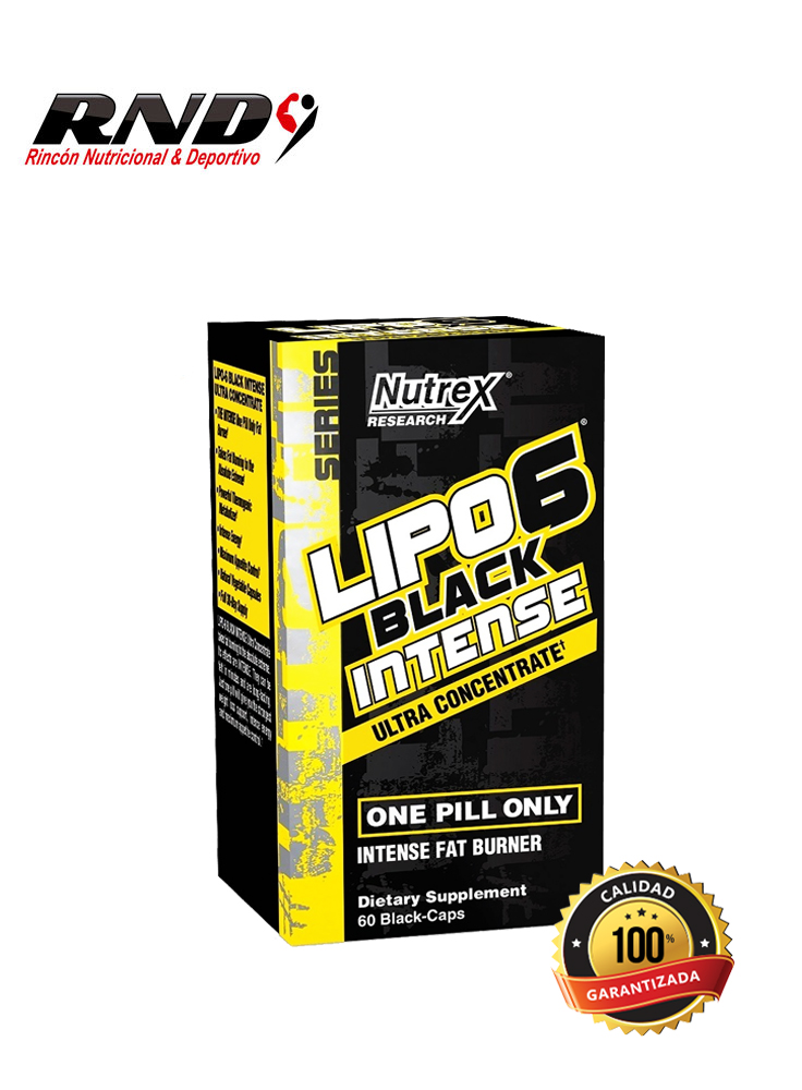 LIPO 6 BLACK INTENSE (60 SERV) EUROPEO